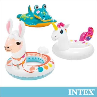 INTEX 造型游泳圈-獨角獸/羊駝/鱷魚_適用3-6歲(58221)