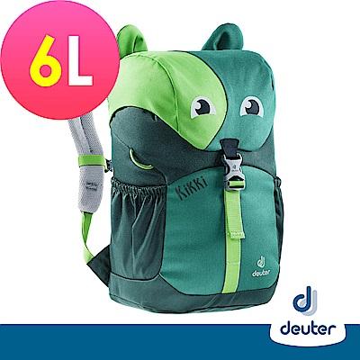 【德國DEUTER】Kikki 奇奇貓兒童輕量雙肩後背包6L/3610519綠/深綠