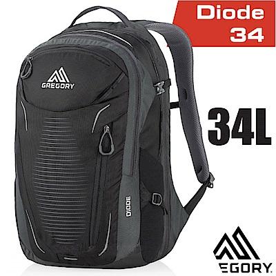 美國 GREGORY 新款 Diode 34 多功能輕量電腦後背包_陰影黑