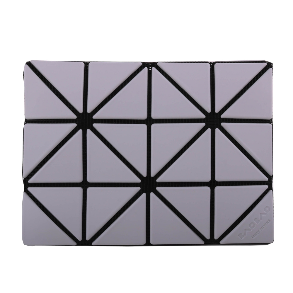ISSEY MIYAKE  BAOBAO幾何方格雙拼色3x4名片夾/灰白X淺灰