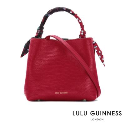LULU GUINNESS RUBY 手提/側背包 (覆盆莓紅)