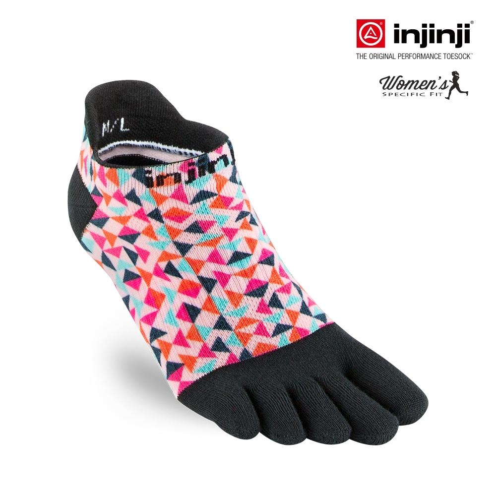 【Injinji】RUN女性輕量吸排五趾隱形襪-彩色三角