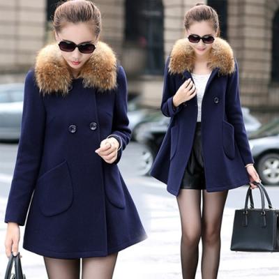 【韓國K.W.】微暖設計圓弧口袋收腰外套-1色