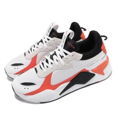 Puma 休閒鞋 RS-X Mix 老爹鞋 男鞋 厚底 麂皮 緩震 穿搭推薦 白 橘 38046201