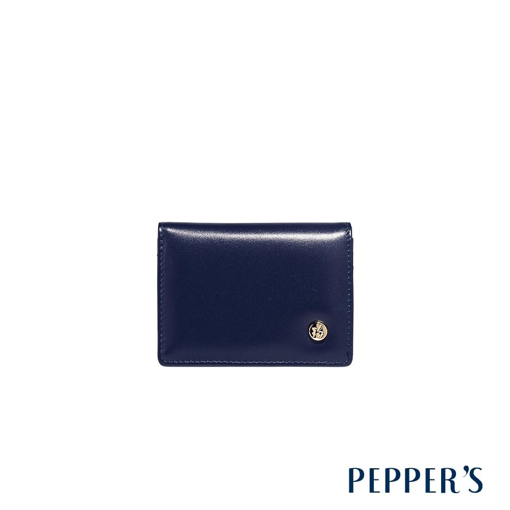 PEPPER'S Raven 牛皮名片夾 - 午夜藍