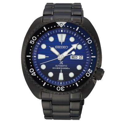 SEIKO精工 Prospex SCUBA200米潛水機械錶 4R36-05H0SD(SRPD11J1)-黑x藍/45mm