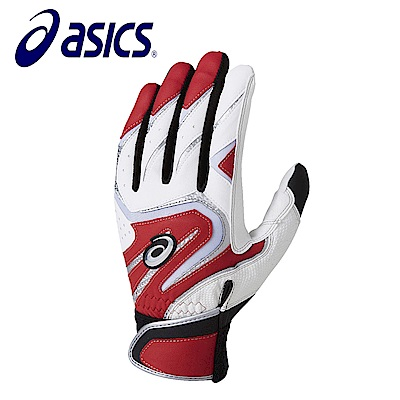 Asics 亞瑟士 打擊手套 一雙 白紅 BEG272-0123