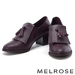 高跟鞋 MELROSE 率性迷人流蘇設計牛津高跟鞋-紅
