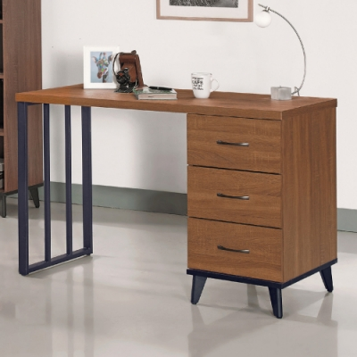 AS-黛西4尺胡桃色書桌-121x56x80.7cm
