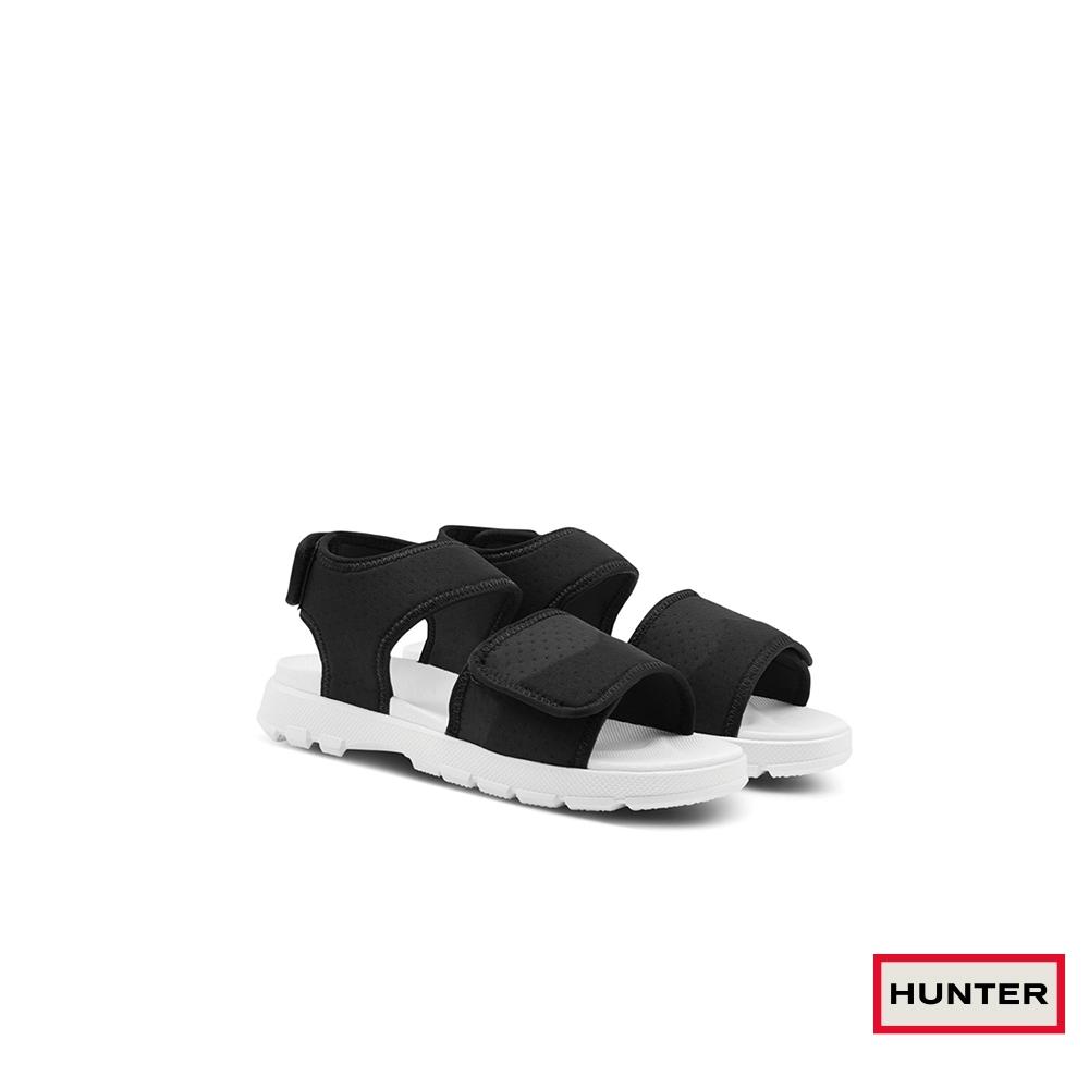 HUNTER -女鞋-潛水布戶外涼鞋-黑色