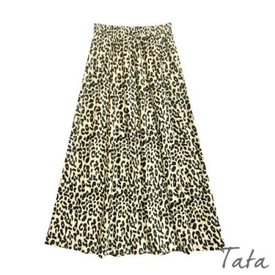 豹紋不規則小百褶裙 TATA-F