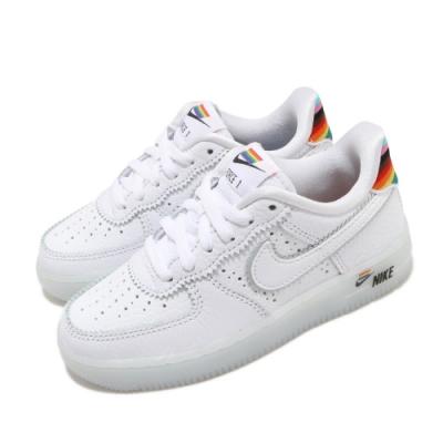 Nike 休閒鞋 Air Force <b>1</b> BT PS 運動 童鞋 興別平權 皮革 質感 AF1 中童 穿搭 白 彩 CW7439100