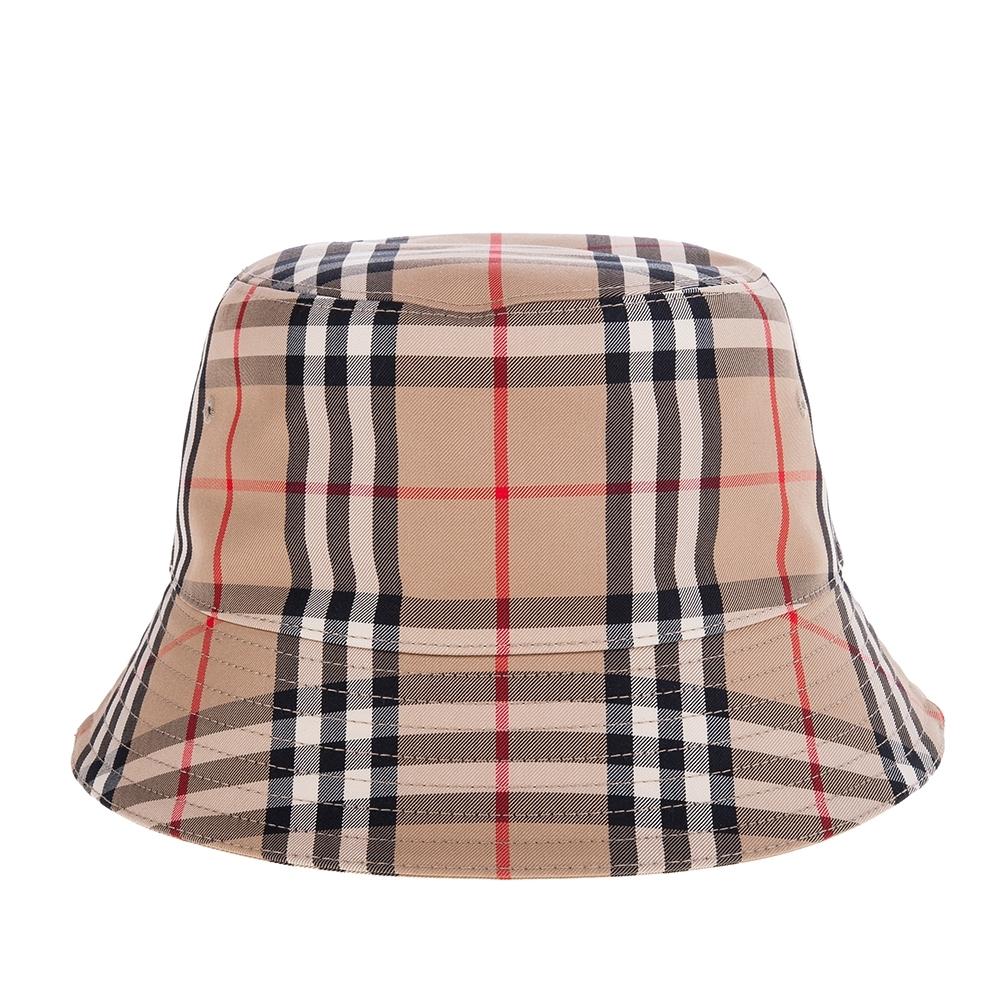 BURBERRY 經典Vintage 格紋科技棉質混紡漁夫帽