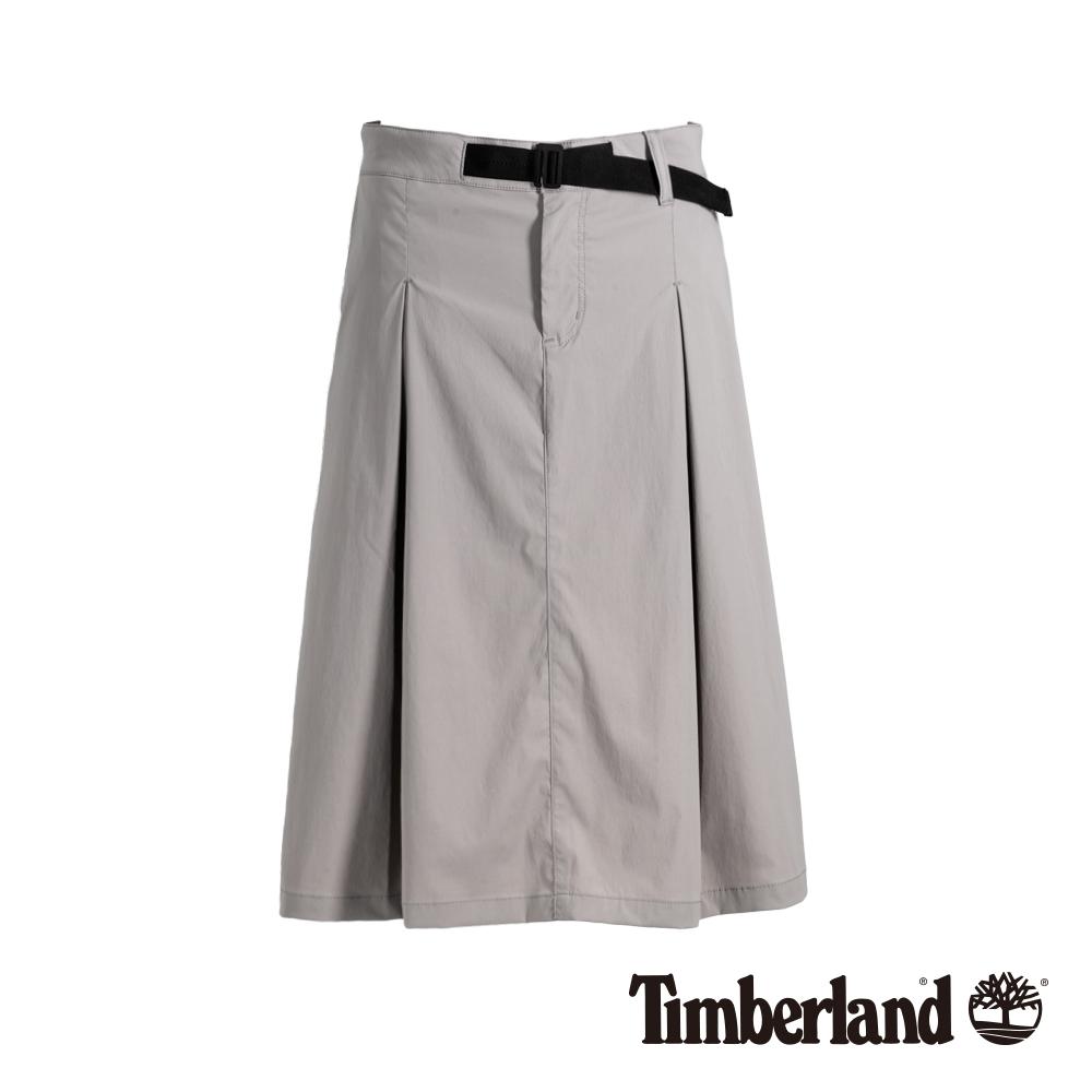 Timberland 女款卡其灰防潑水打摺工裝裙|B3307