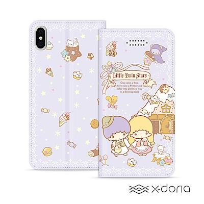 三麗鷗 Kikilala 雙子星 iPhone X/Xs 隱形磁力皮套 童話