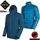 長毛象 兩件式連帽頂級防水透氣耐磨風雨衣+750FP羽絨外套_水鴨藍/藍寶石 product thumbnail 1