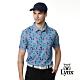 【Lynx Golf】男款蛀蟲紗世界景觀滿版印花胸袋款短袖POLO衫-灰色 product thumbnail 2
