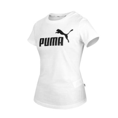 PUMA 女 基本系列Amplified短袖T恤 白黑