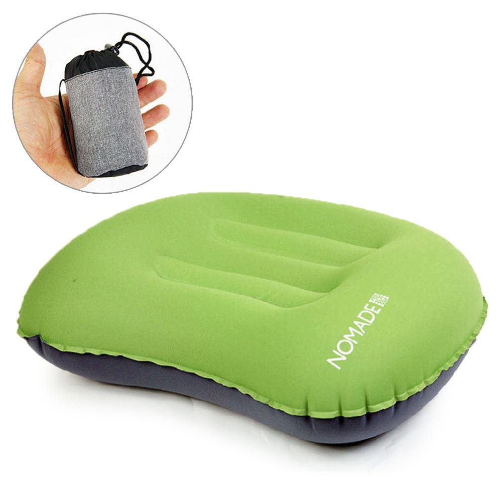 NOMADE 戶外便攜 折疊式充氣枕 -草綠
