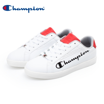 【Champion】COURT PUNCHING 運動休閒鞋 男鞋-白/紅(MFUS-0009-03)