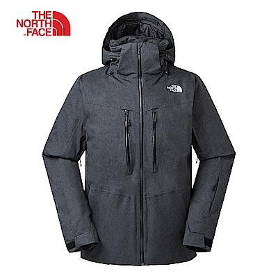 The North Face北面男款深灰色保暖滑雪外套|3IFZDYZ