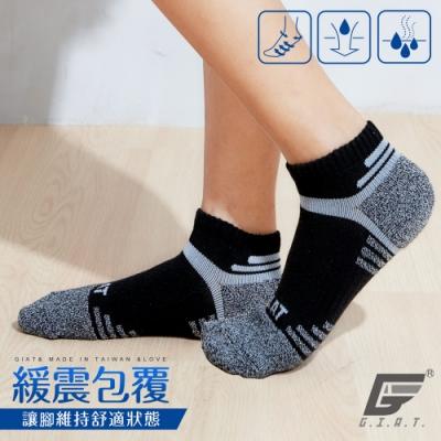 GIAT台灣製類繃萊卡運動機能襪(男女適穿/麻花黑)