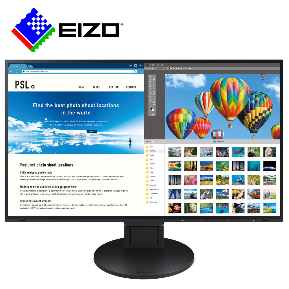 EIZO FlexScan EV2785 27吋/USB-TypeC/低藍光低閃頻4K寬螢幕-黑