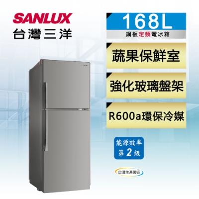 SANLUX台灣三洋 168L 2級定頻雙門電冰箱SR-C168B