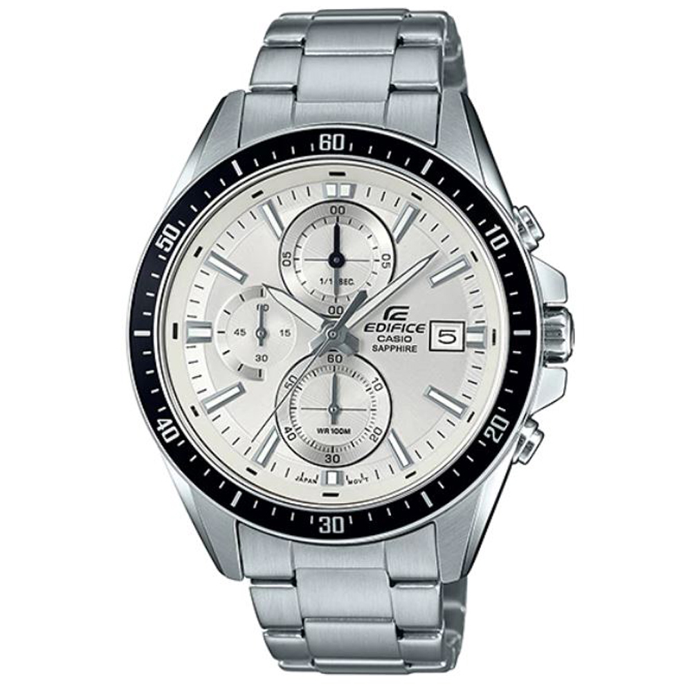 EDIFICE簡潔賽車設計指針不鏽鋼錶-白面(EFR-S565D-7A)/41mm