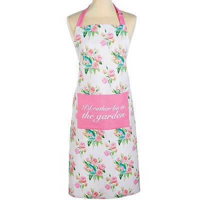 《KitchenCraft》平口單袋圍裙(玫瑰)