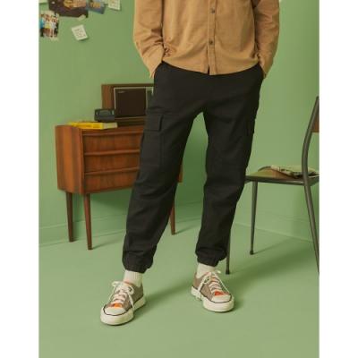 CACO-針織束腳工作褲-男【A1AR072】