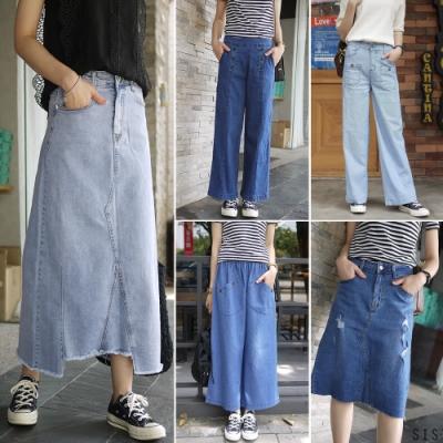 [時時樂限定] 小資最愛!一條穿三季高cp值的多款寬褲牛仔裙單一特價