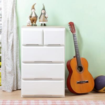 創意達人x樹德伯斯加寬木頂板2+3抽收納櫃(137L)-1入組