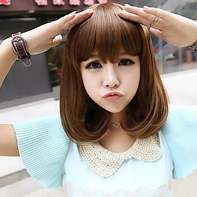 米蘭精品 女假髮整頂假髮中長假髮-可愛時尚內彎流行女美髮用品4色69o13