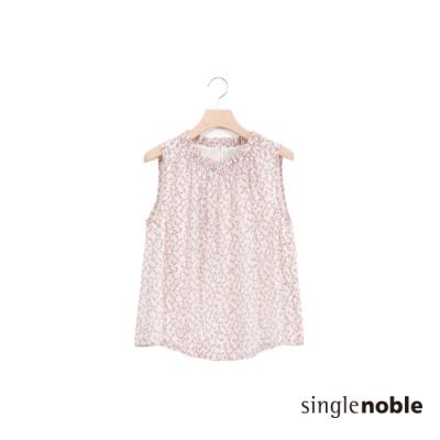 獨身貴族 森林系滿版碎花設計無袖上衣(2色)