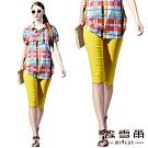 【麥雪爾】花邊素色五分褲-黃