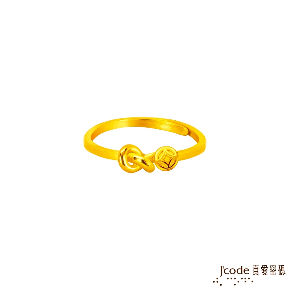 J'code真愛密碼金飾 大甲媽  財富結緣黃金戒指