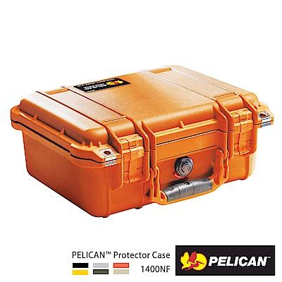 美國 PELICAN 1400NF 氣密箱-空箱(橘)