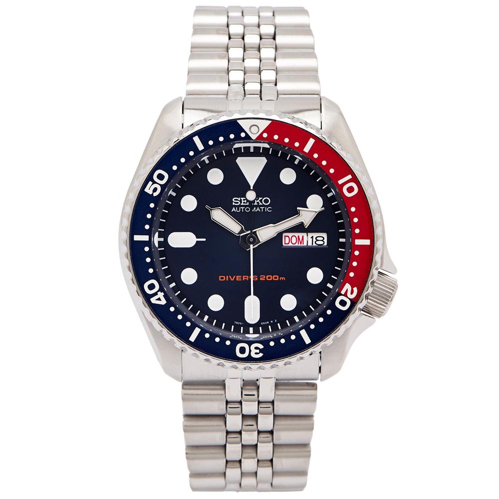 SEIKO 潛水運動風格機械錶(SKX009K2)-藍面X紅藍色框/40mm