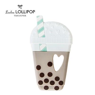 加拿大Loulou lollipop嬰幼兒夢幻固齒器 珍珠奶茶系列-珍珠奶茶固齒器