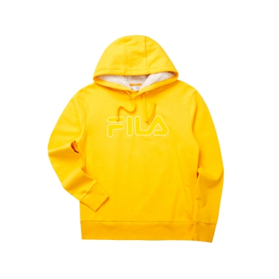 FILA 長袖連帽T恤-黃色 1TET-5467-LM