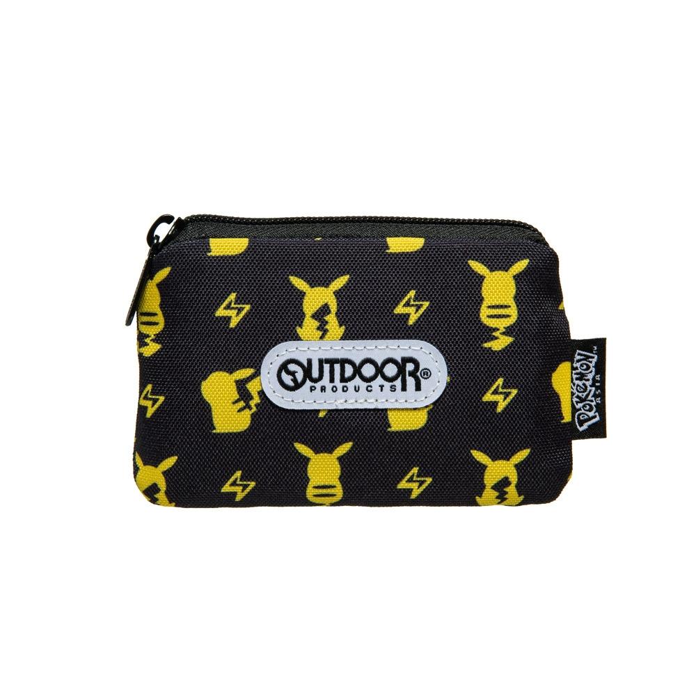 【OUTDOOR】Pokemon聯名款潮黑皮卡丘卡片零錢包-黑色 ODGO20B14BK