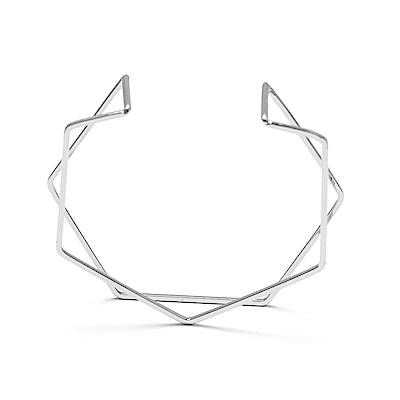 LOVERS TEMPO加拿大品牌 HEX-Y開口式 銀色手環
