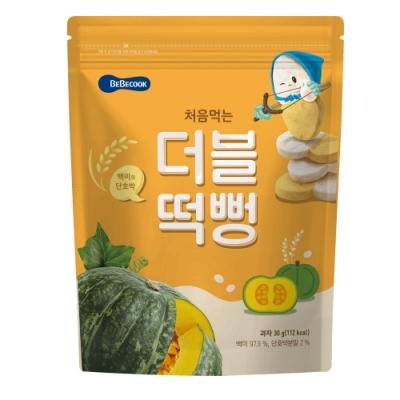 韓國 【BEBECOOK】 嬰幼兒雙色初食綿綿米餅(白米南瓜)