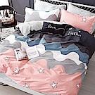 La Lune 100%40支寬幅台灣製精梳純棉雙人加大床包被套四件組 童話城堡