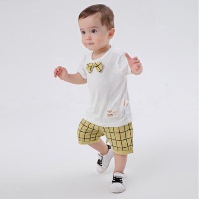 Baby童衣 領結短袖造型套裝 英倫風短袖上衣褲子 LYT35