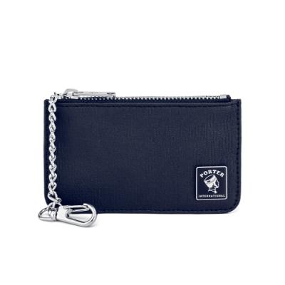 PORTER - 迷幻復古MORI鑰匙掛環零錢包 - 深藍