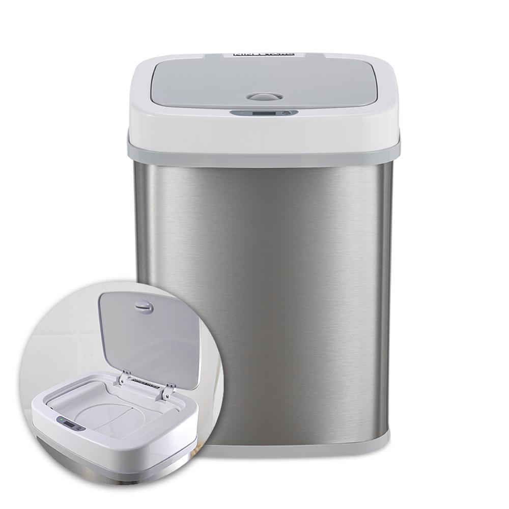 美國NINESTARS感應式尿布防臭垃圾筒NPT-12-5 極地白