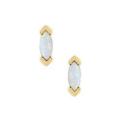 five and two 美國品牌 Athena鑲嵌寶石 金色耳環