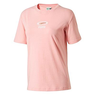 PUMA-女性流行系列CELL OG刺繡短袖T恤-新娘玫瑰-歐規